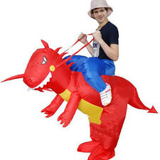 Inflatable Dragon Ride Adult Carry On Animal Zoo Blow Up Fancy Dress Costume