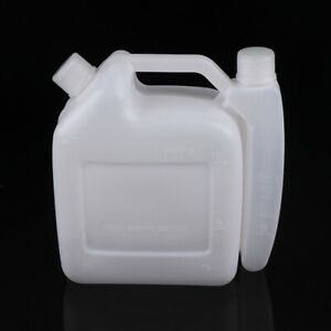 1.5L Litre 2-Stroke Petrol Fuel Oil Mixing Bottle Tank For Trimmer Chain~ OI