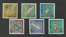 1965 Vietnam Stamps Crustaceans Collection Scott # 368-373 Cto Never Hinged