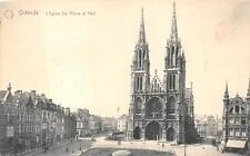 Ostende Belgium St. Paul Church Ww1 Military Feldpost Postcard 1915