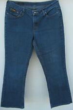 Riders Lee Women Midrise Straight Jeans petites Size 12P blue dark wash stretch
