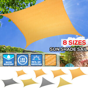 Sun Shade Sail Cloth Canopy ShadeCloth Triangle Square Rectangle Outdoor Awning