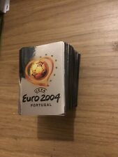 PANINI UEFA EURO 2004 ALMOST COMPLETE SET OF 329/334 STICKERS