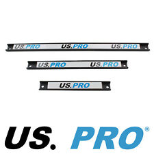 """US PRO Tools 3pc Magnetic Tools Rail holder 6733 8"""", 12"""", 18"""", Pre Drilled"""
