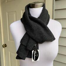 NWT Portolano 100% dark gray cashmere scarf