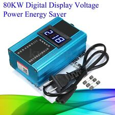 110-230V 80KW 10-35%LED Power Energy Saver Saving Box Electricity Bill Killer US