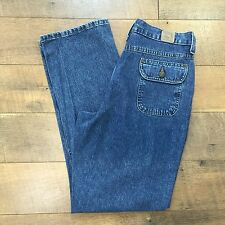 RIDERS Sz 8 Button Flap Back Pocket Jeans 100% Cotton Great Look Womens Size 8 M