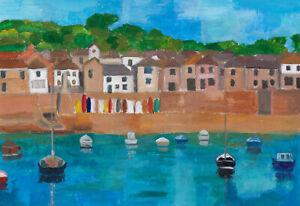 """Mousehole harbour""    Cornwall/Cornish art"