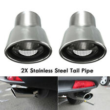 2Pcs Silver Exhaust Muffler Tail Pipe Tip Tailpipe for Honda CRV CR-V 2017 Valid