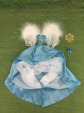 Barbie Couture Angel Complete Outfit Blue Dress With Wings