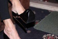 La Regina della Passerella molto tacco alto scarpe taglia 5 nero nuovo brevetto