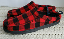 NWT Mens Plaid Slippers Scuffs Red Plush Flannel-Feel UP Urban Pipeline