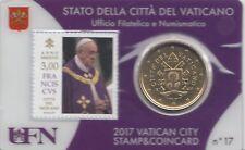 Briefmarke und Münze von PAPST FRANZIUSKUS  (Nr. 17)