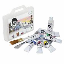 Bob Ross 10 Piece Basic Landscape Oil Paint Set w/ Option for Easel & Palette