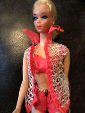 New listing VINTAGE Blonde NAPE CURL BARBIE #1115 Talking Mute Doll OSS-Bikini/Coverup