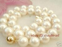 9-10mm, Akoya, perles d'eau douce, blanc, mode, collier, 42cm