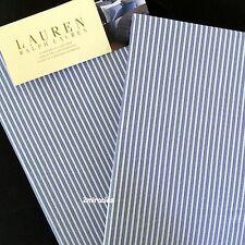 2 Ralph Lauren Standard Jermyn Street Stripe Pillowcases Blue White Cotton RARE