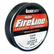 Beadsmith FireLine Beading Thread 6lb, size D, 50yds CRYSTAL colour