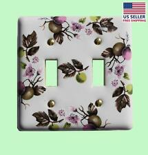 Switch Plate White Porcelain Apple Tree 2 Toggle Switch | Renovator's Supply