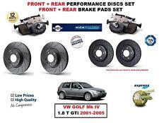 per VW GOLF IV 1.8 T- GTI 2001-2005 ant. + post. PERFORMANCE DISCHI FRENO +