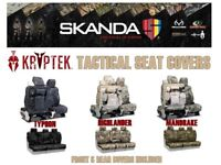 Coverking Kryptek Camo Tactical Front & Rear Custom Seat Covers for GMC Canyon