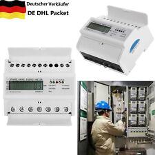 A Digital 3-Phasen-4-Draht DE VERSAND LCD Drehstromzähler Stromzähler 3x5 100