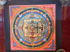 Handpainted Original Tibetan Chinese Kalachakra Mandala thangka Painting, Nepal
