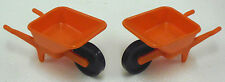 2 x Klicky Wheelbarrow Orange Playmobil to 3313 3400 3492 3507 3474 Unrecorded