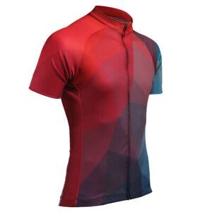 2021 Unique Men's Cycling Short Jersey Red S~3XL Biking Ciclismo Jerseys Shirt