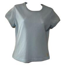 NIKE Women's Light Blue, Short Sleeve Mesh T Shirt Size M