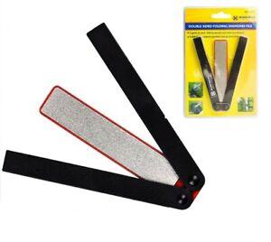 Double Sided Folding Diamond File Sharpener Knife Scissors Grit Tools UK
