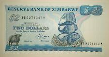 Zimbabwe Simbabwe 2 Dollars 1983 P - 1b 1 b  UNC Kassenfrisch