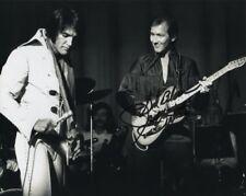 JAMES BURTON signed autographed w/ ELVIS PRESLEY photo