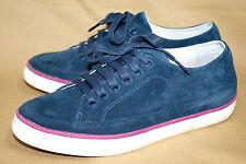 FITFLOP Supernavy Super T Sneaker 183-097 Women's 6 Blue Suede Nubuck Lace Up