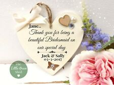 Bridesmaid Friend Heart Beautiful Bridesmaid Plaque Sign Keepsake