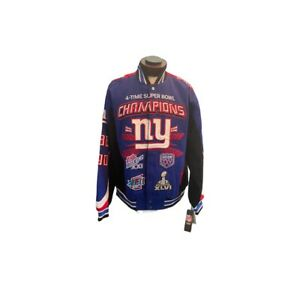 NWT Giants 4x Super Bowl Champion Varsity Jacket Size XL Tags still attached