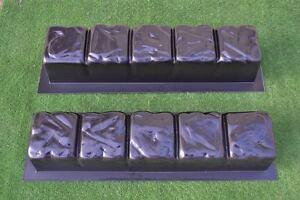 Concrete molds straight edge stone log edging border garden curbs sold 2pcs BR02