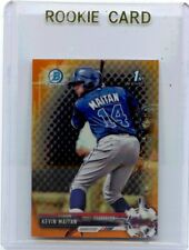"2017 BOWMAN CHROME #BCP100 KEVIN MAITAN ""ORANGE REFRACTOR"" MINI RC #23/25 BRAVES"