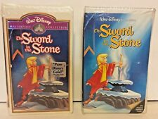Sword in the Stone Lot of 2 Disney Rare Black Diamond & Masterpiece VHS Sealed