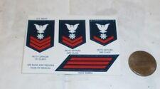 Gi joe / Action man Navy sailor insignia sticker sheet 1/6th scale toy accessory