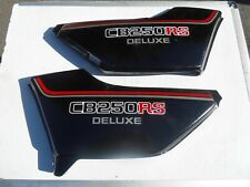 HONDA CB250RS DELUXE - ORIGINAL FIT SIDE PANEL SET IN BLACK GOOD CONDITION