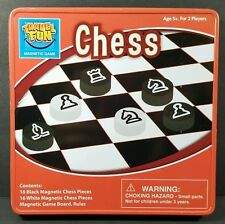 Innovative Designs Travel Fun Chess Magnetic Tin Game