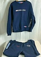 2002 USA Salt Lake City Olympics Roots Sweatshirt And Sweatpants Blue Women's M