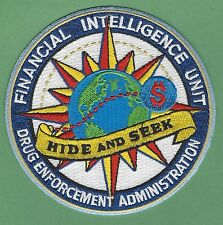 DEA DRUG ENFORCEMENT ADMINISTRATION FINANCIAL INTELLIGENCE UNIT POLICE PATCH