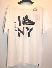 Air Jordan Retro 1 Derek Jeter Re2pect White Navy Blue T-Shirt Mens Size XL New