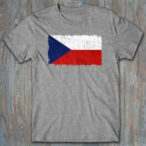 Novelty T shirt FLAG OF CZECH REPUBLIC distressed, cool patriotic gift Czechia