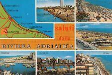 Bf23507 riviera adriatica map cartes geographiques italy front/back image