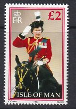 Isle of Man 1990. Queen taking Salute at Trooping the Colour   SG 380a MNH