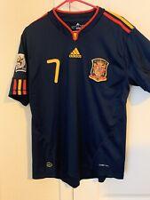 Original Spain World Cup Champion 2010  Soccer Jersey Medium David Villa 7 RFCF