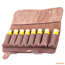 Retro Leather Shotgun Holder Pouch Tactical Rifle Ammo Holds Carrier 8 12 Ga New